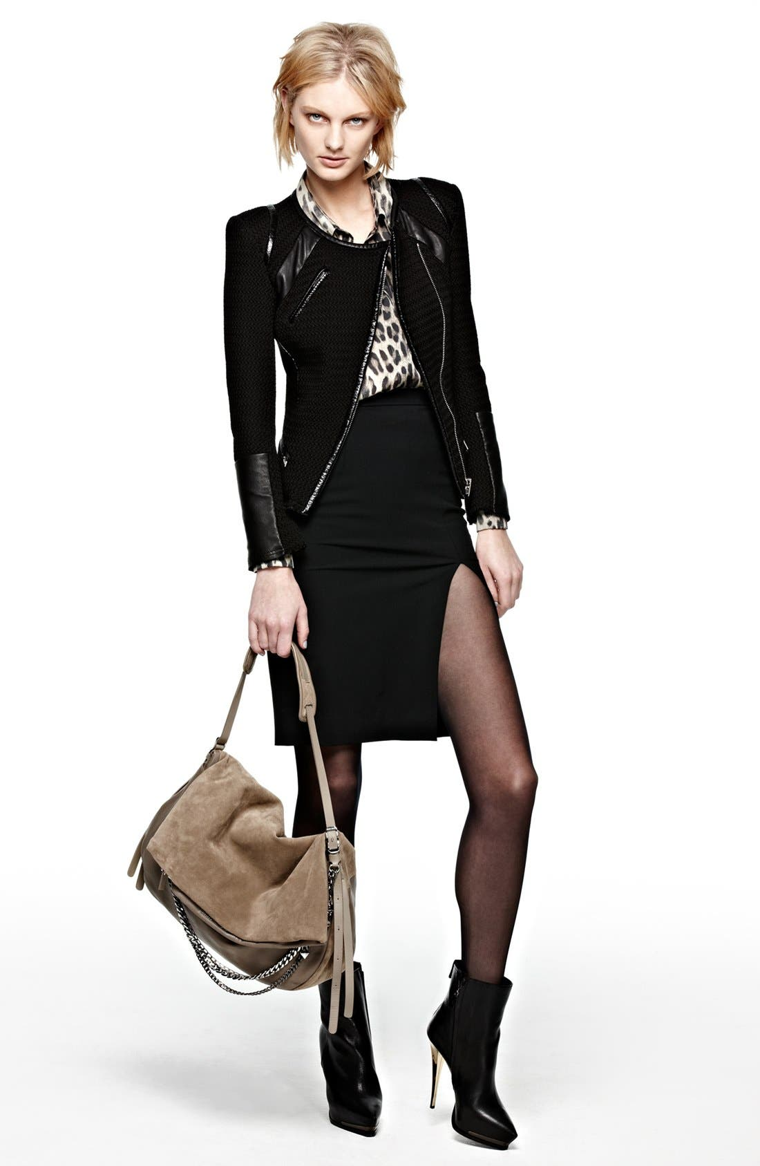 Alternate Image 2  - IRO 'Risley' Asymmetrical Leather Trim Jacket