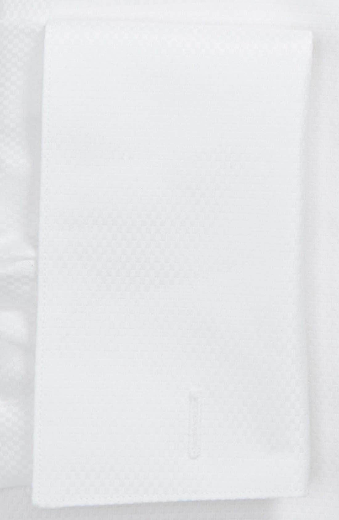 Alternate Image 2  - David Donahue Regular Fit Solid French Cuff Tuxedo Shirt
