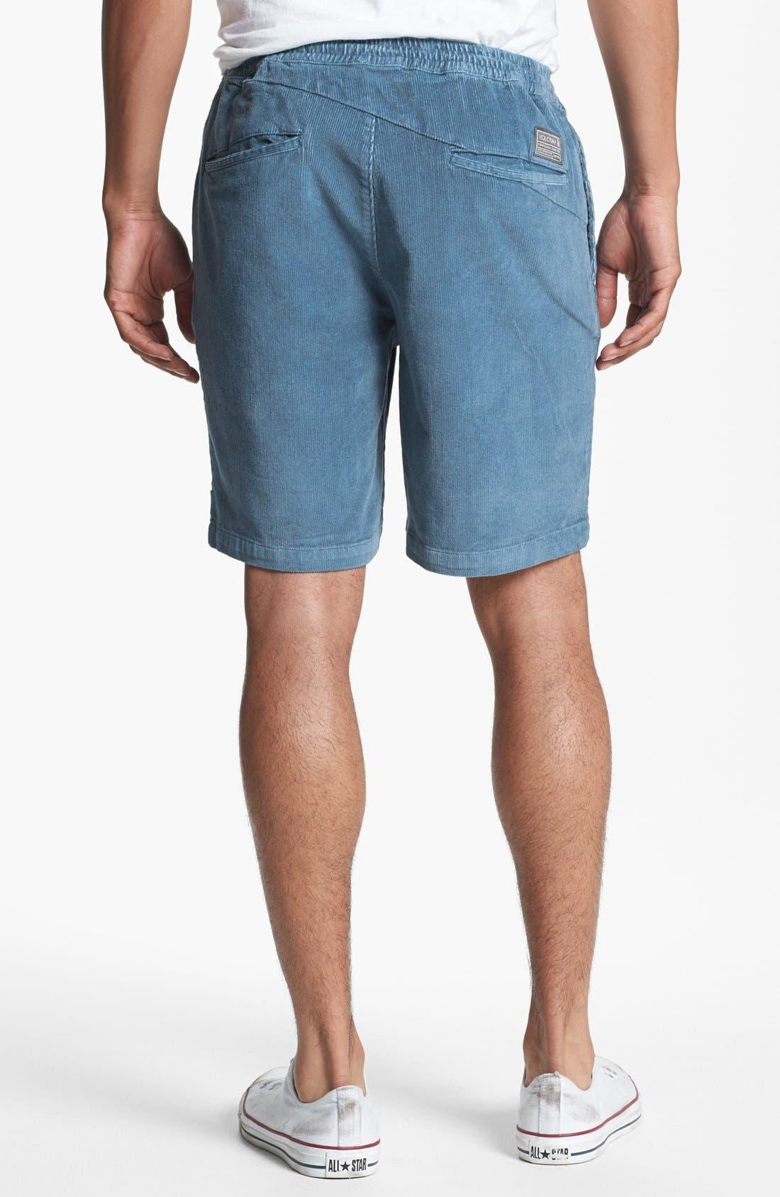 Alternate Image 2  - Volcom Elastic Waist Corduroy Shorts