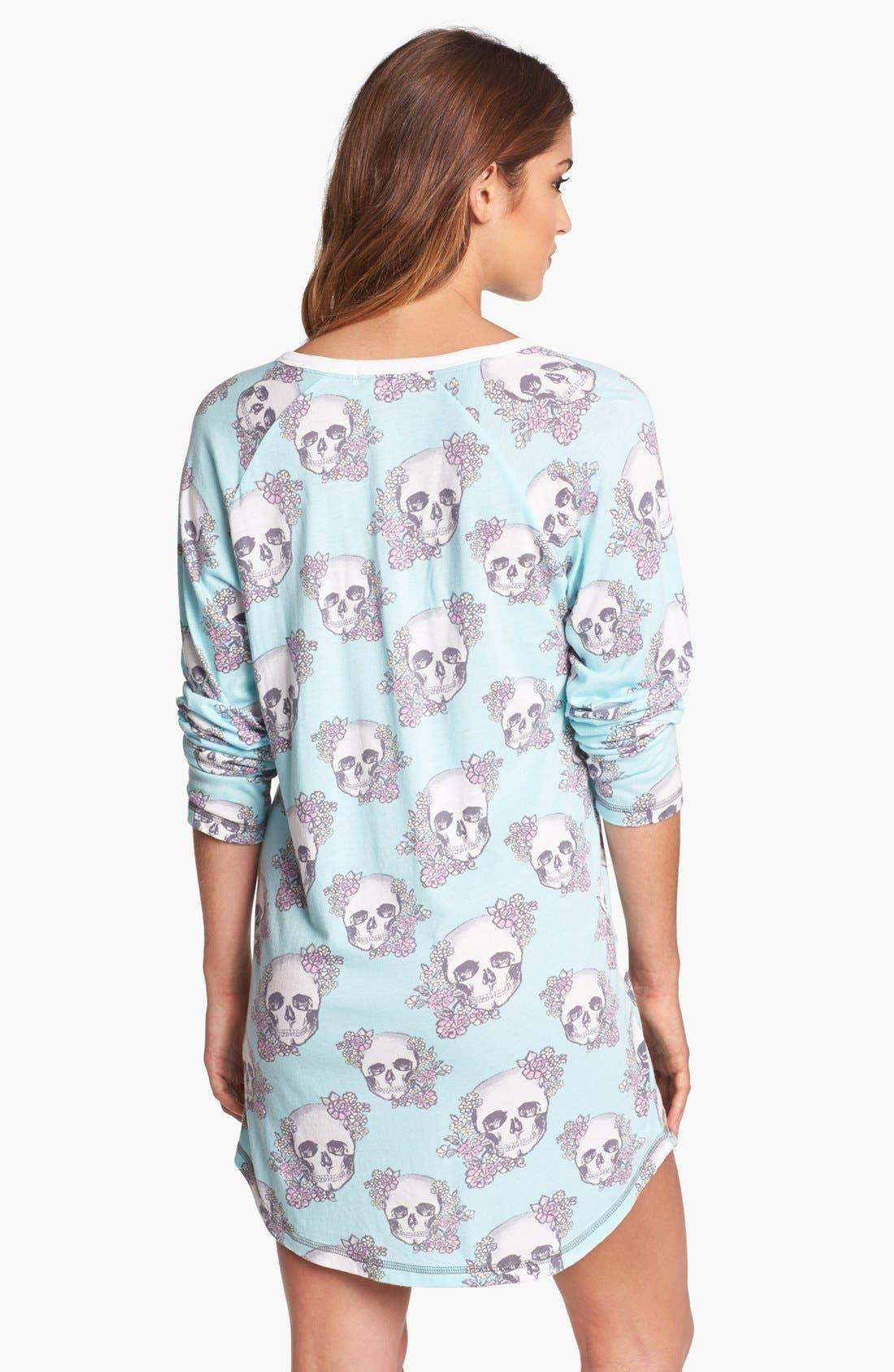 Alternate Image 2  - PJ Salvage 'Floral Skully' Sleep Shirt