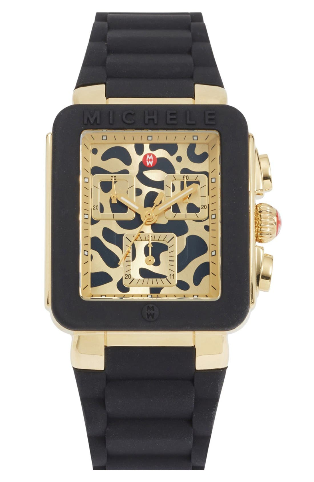 Main Image - MICHELE 'Park Jelly Bean' Tiger Dial Watch, 33mm x 36mm