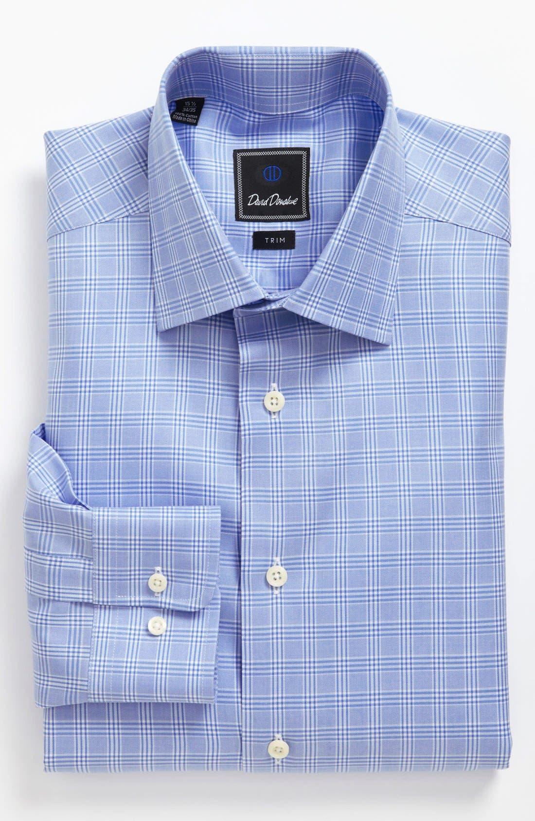 Alternate Image 1 Selected - David Donahue Trim Fit Dress Shirt