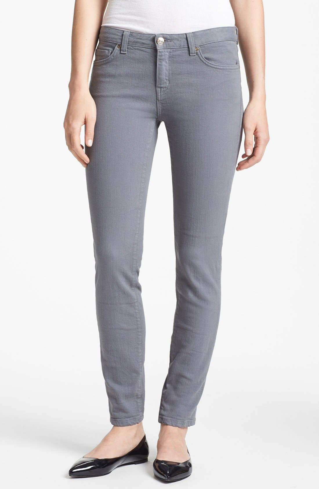 Main Image - kate spade new york 'broome street' overdyed skinny jeans (Medium Grey)