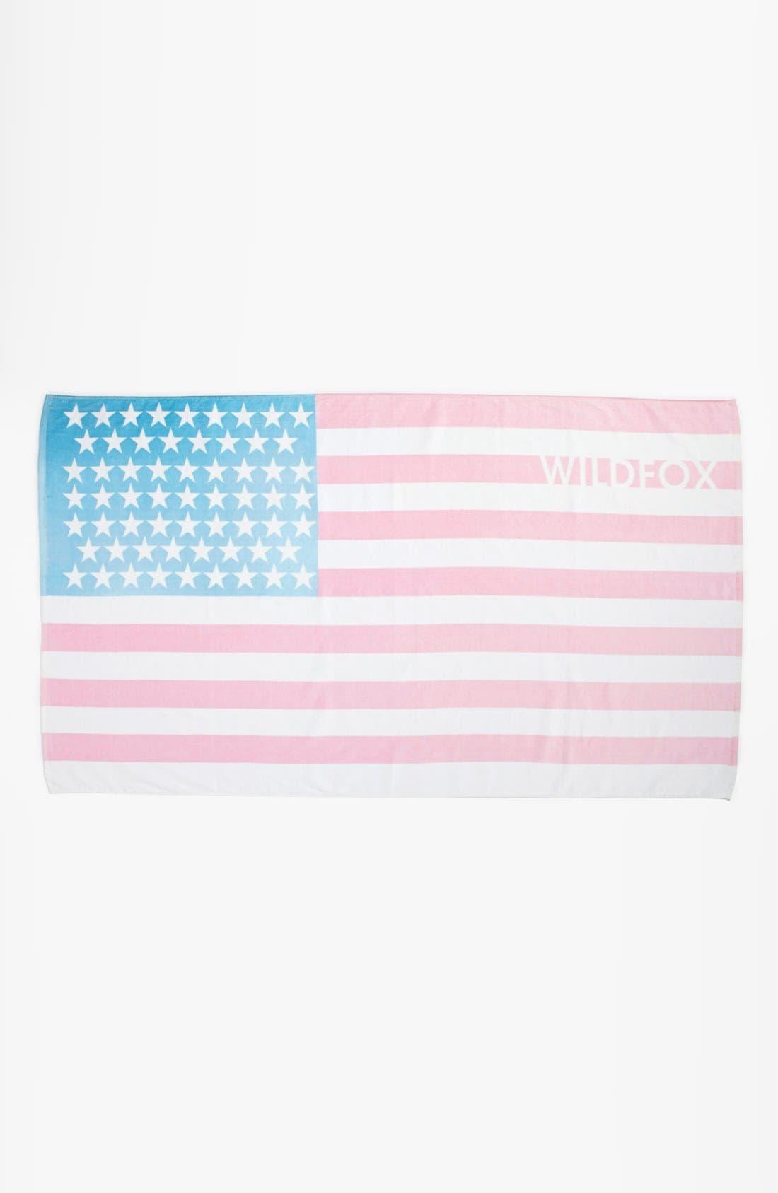 Alternate Image 1 Selected - Wildfox Sun Bleached Flag Beach Towel