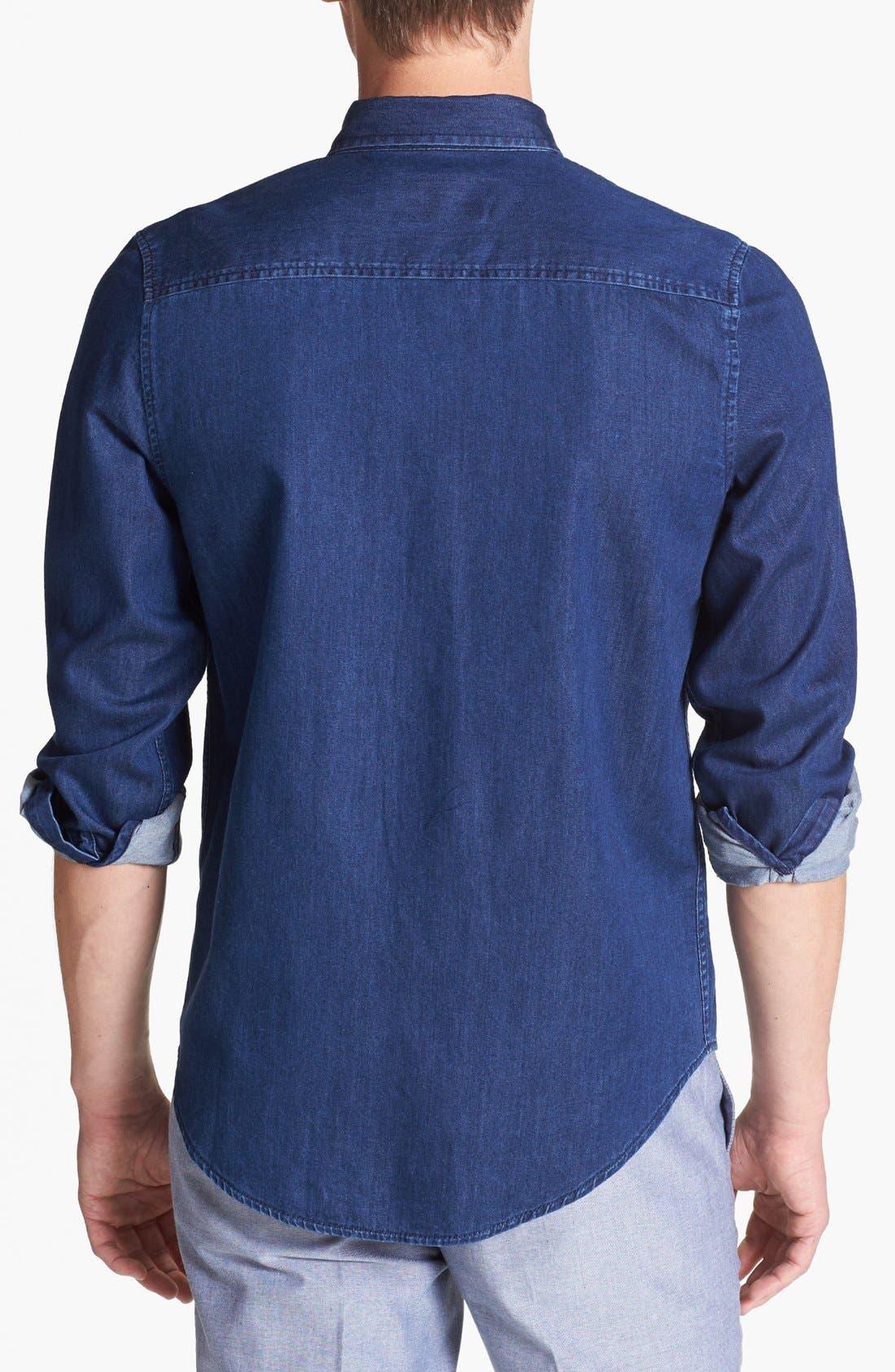 Alternate Image 2  - Topman Indigo Shirt