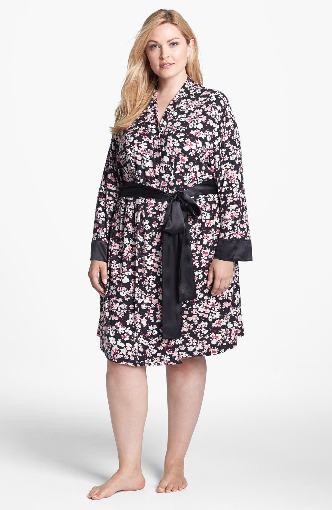 Alternate Image 1 Selected - Midnight by Carole Hochman 'Dream Weaver' Robe (Plus Size)