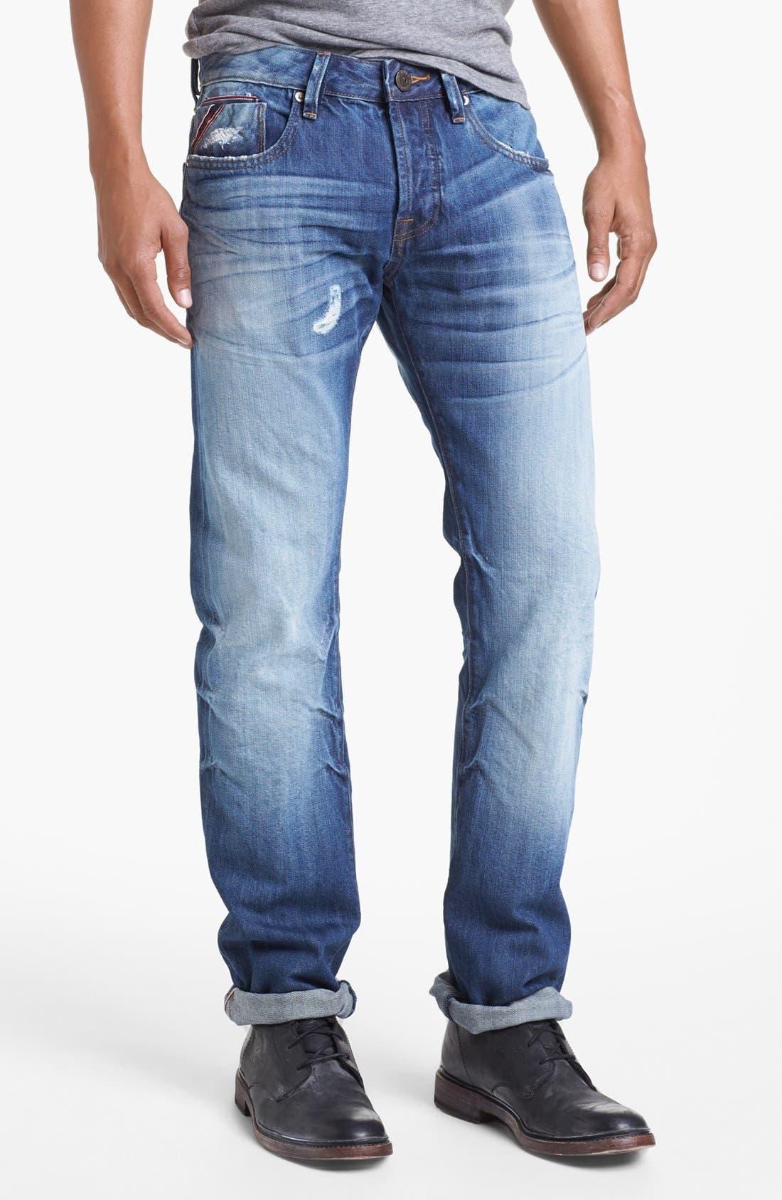 Alternate Image 2  - Cult of Individuality 'Rebel' Straight Leg Selvedge Jeans (Riverside)