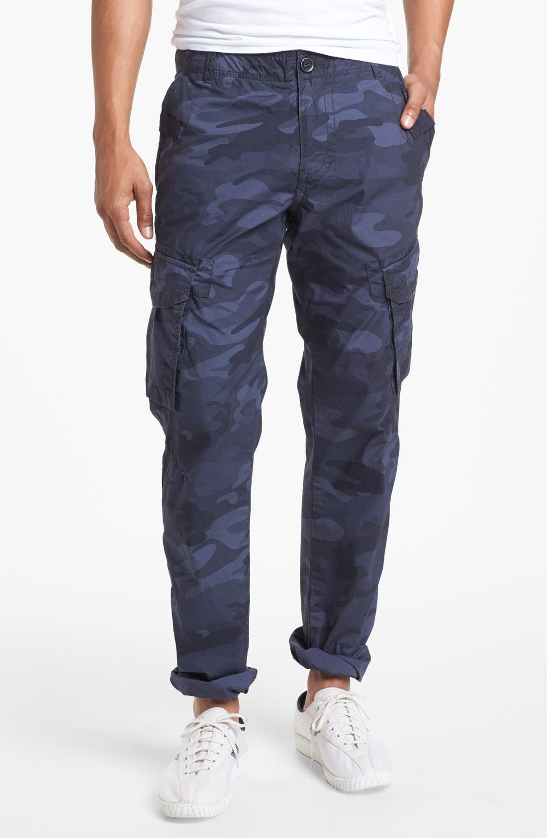 Alternate Image 1 Selected - Union 'Duke 2' Camo Straight Leg Cargo Pants