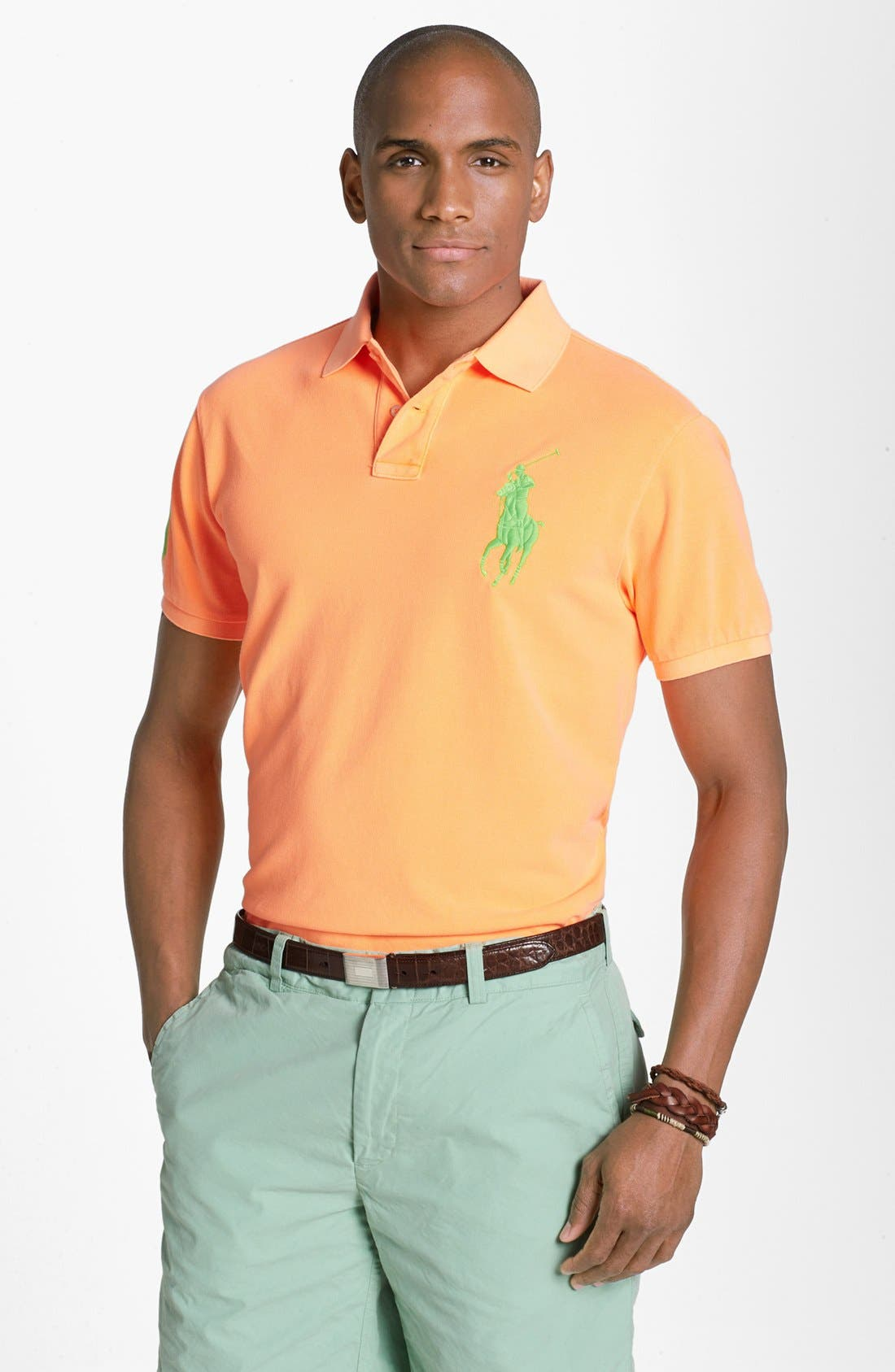 Alternate Image 1 Selected - Polo Ralph Lauren Custom Fit Polo