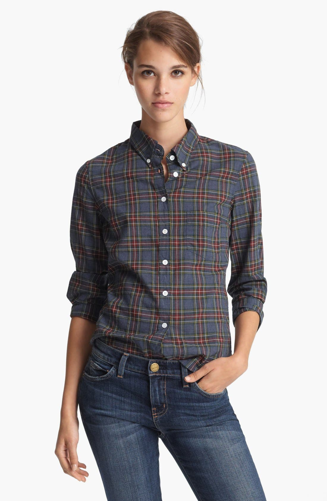 Alternate Image 1 Selected - Band of Outsiders Plaid Shirt
