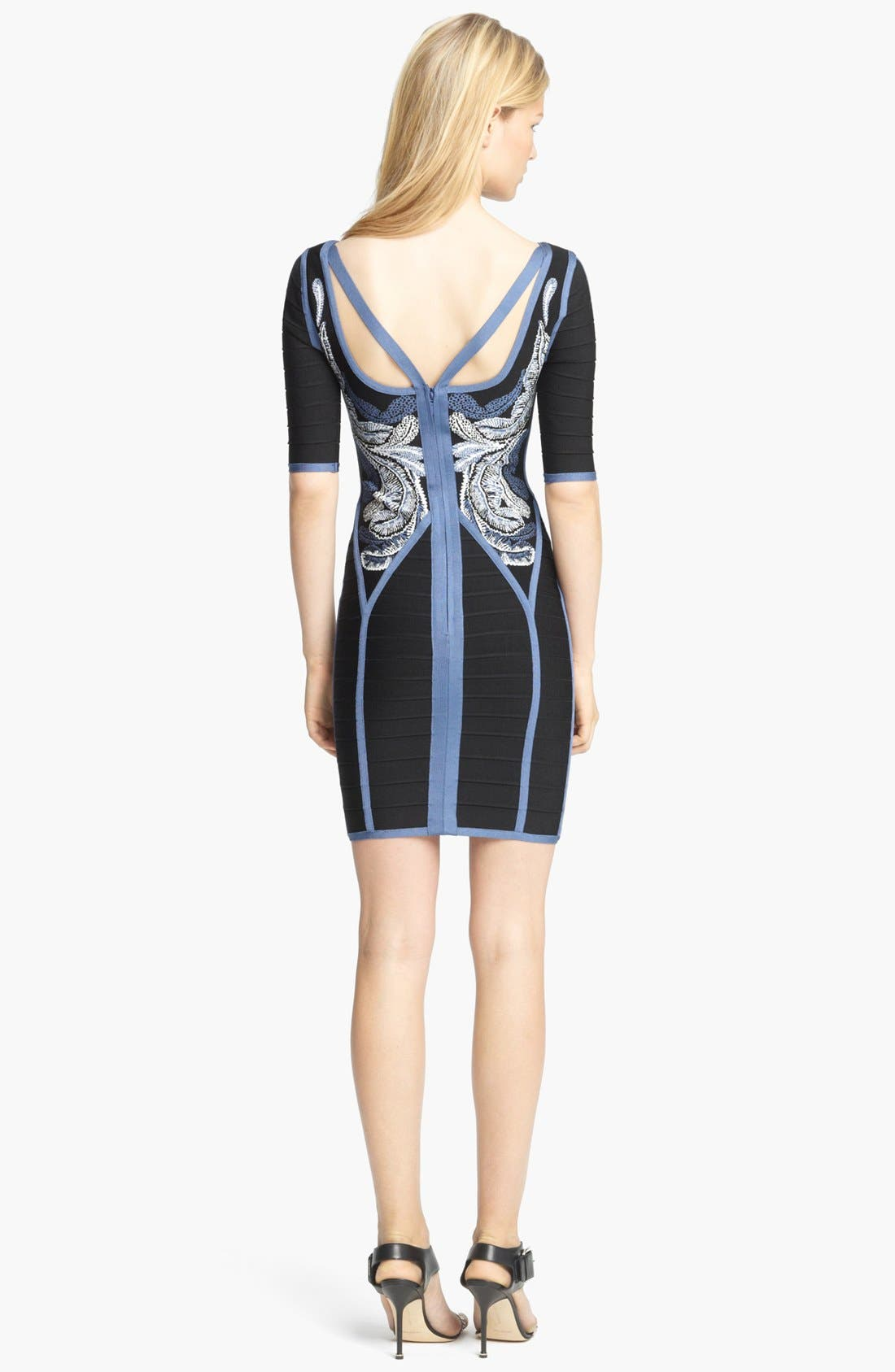 Alternate Image 3  - Herve Leger Embroidered Bandage Dress