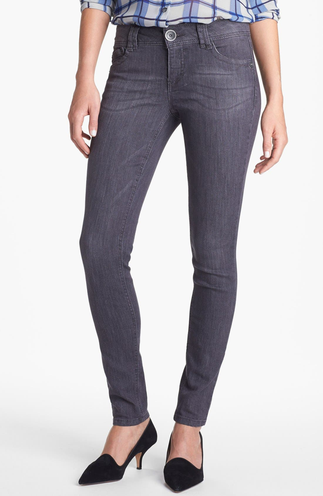 Alternate Image 1 Selected - Wit & Wisdom Skinny Jeans (Dark Grey) (Nordstrom Exclusive)