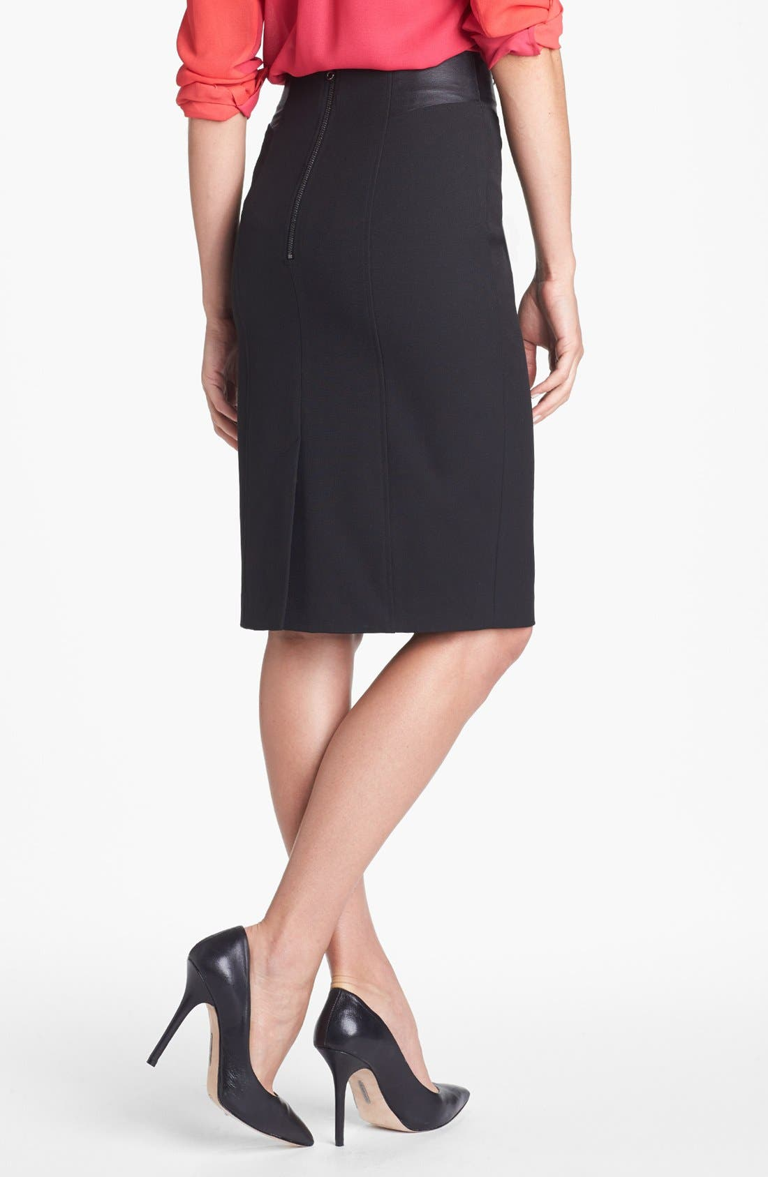 Alternate Image 3  - Halogen® Faux Leather Waist Pencil Skirt