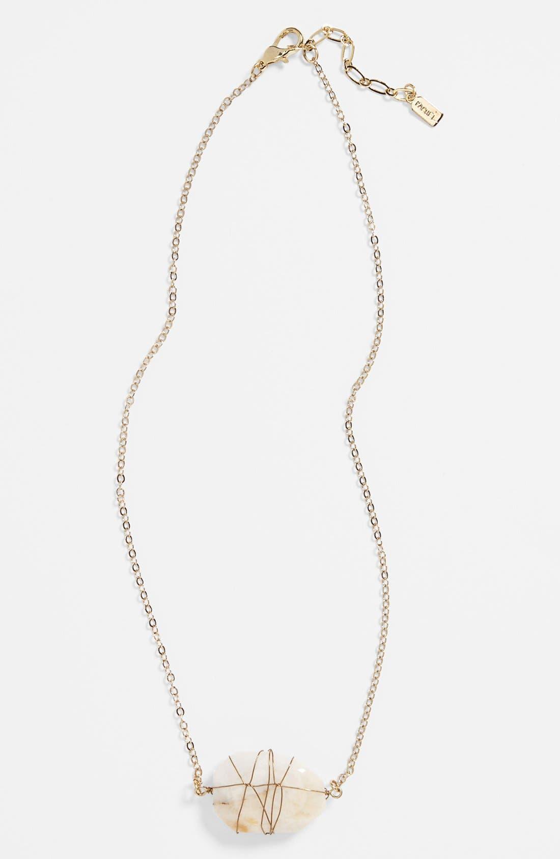 Alternate Image 1 Selected - Rachel Stone Pendant Necklace (Juniors)
