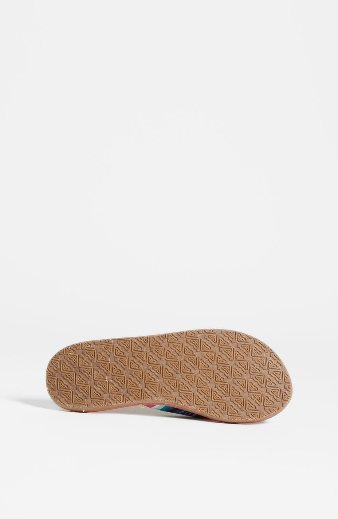 Alternate Image 4  - Roxy Stripe Sandal (Toddler, Little Kid & Big Kid)