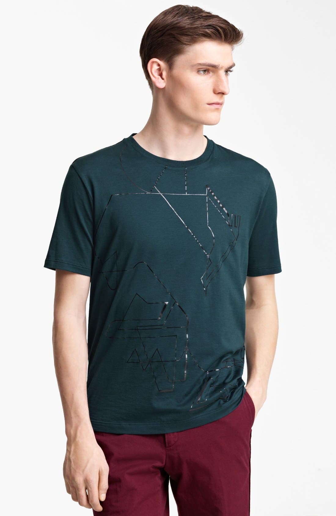 Alternate Image 1 Selected - Lanvin Geometric Graphic T-Shirt