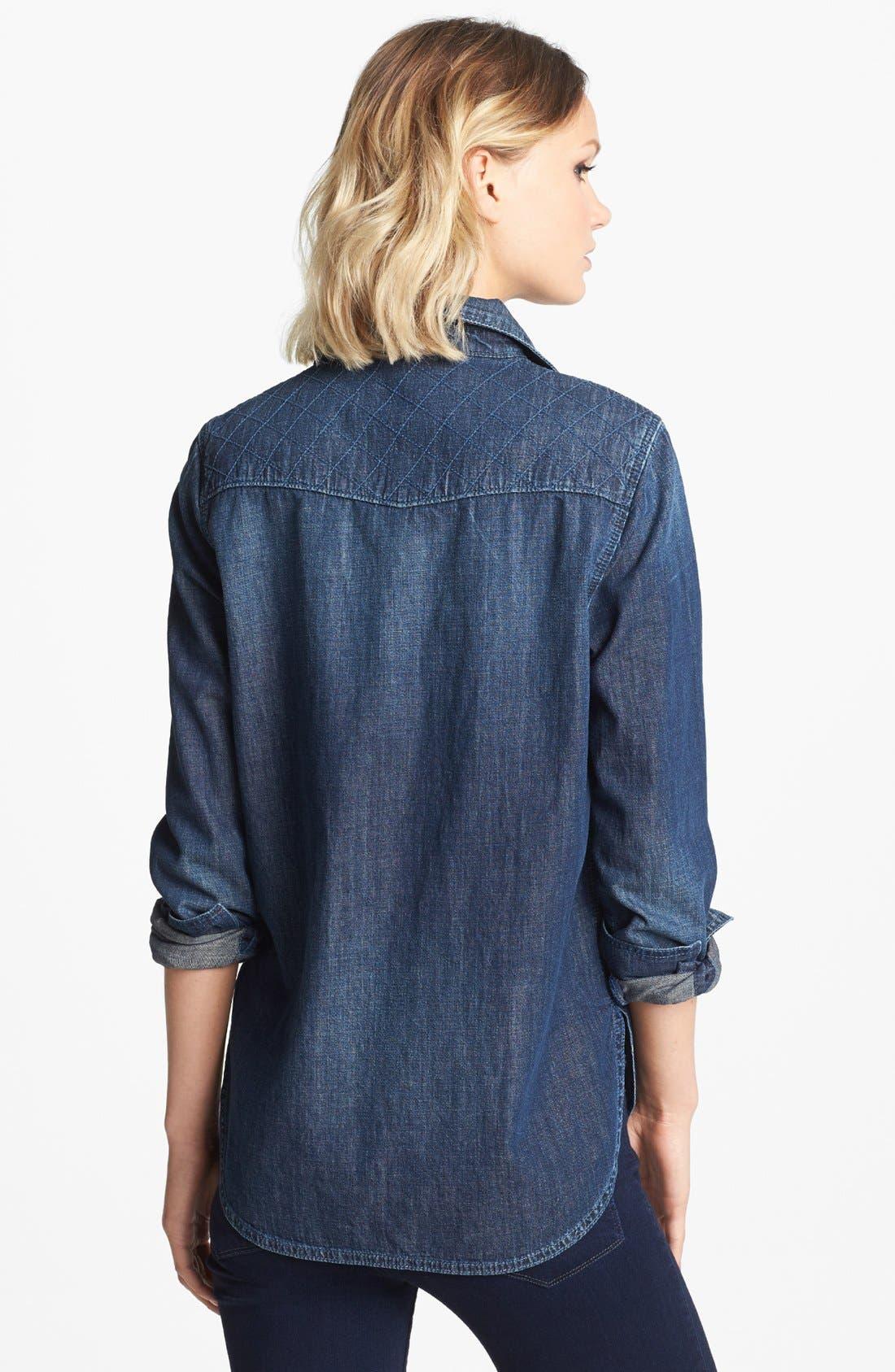 Alternate Image 2  - Paige Denim 'Brooke' Stitched Yoke Denim Shirt