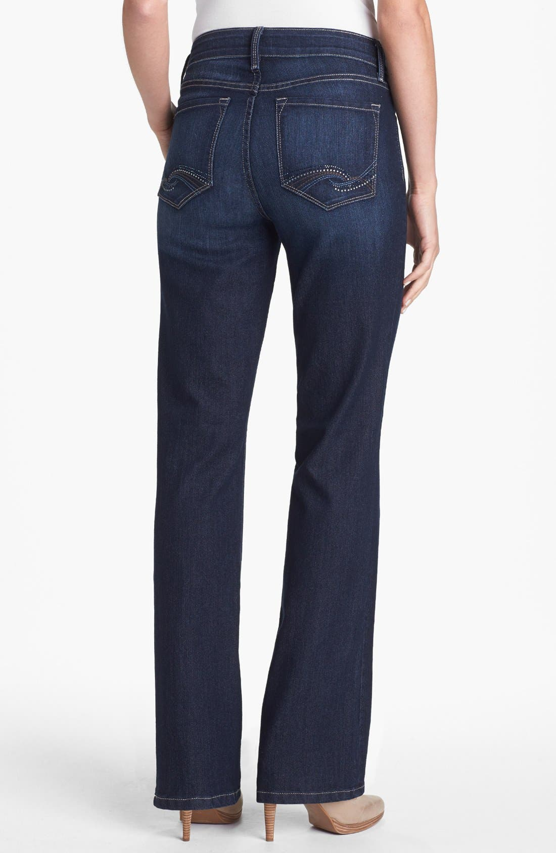 Alternate Image 3  - NYDJ 'Barbara' Embellished Pocket Stretch Bootcut Jeans (Hollywood) (Regular & Petite)