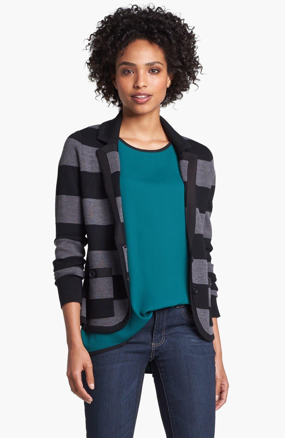 Alternate Image 2  - Halogen® Ribbon Trim Sweater Jacket