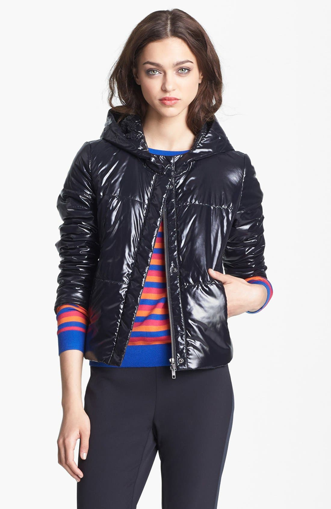 Main Image - Miss Wu Tech Nylon Puffer Jacket (Nordstrom Exclusive)