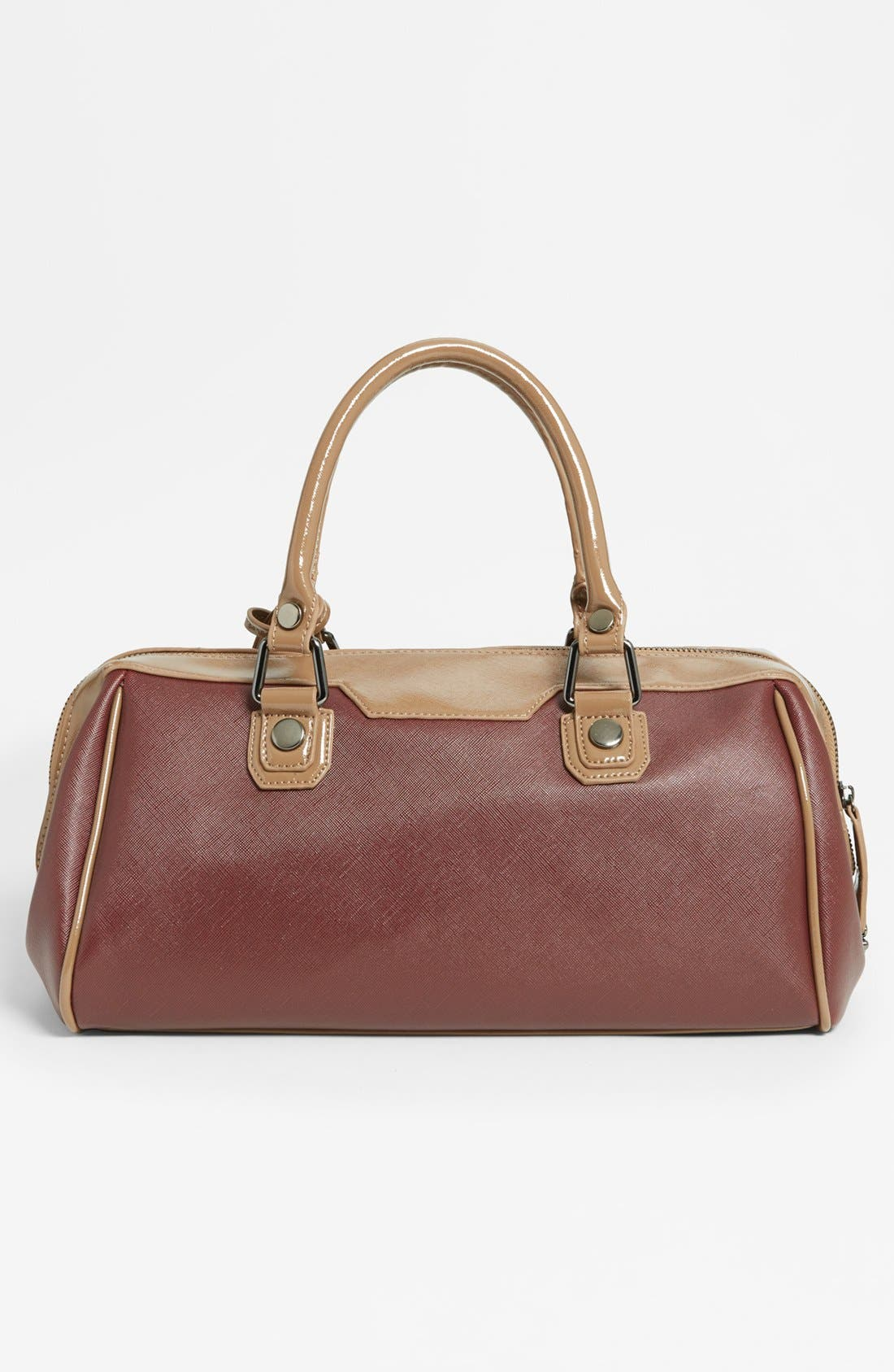 Alternate Image 4  - POVERTY FLATS by rian 'Shiny & Matte' Faux Leather Satchel, Medium