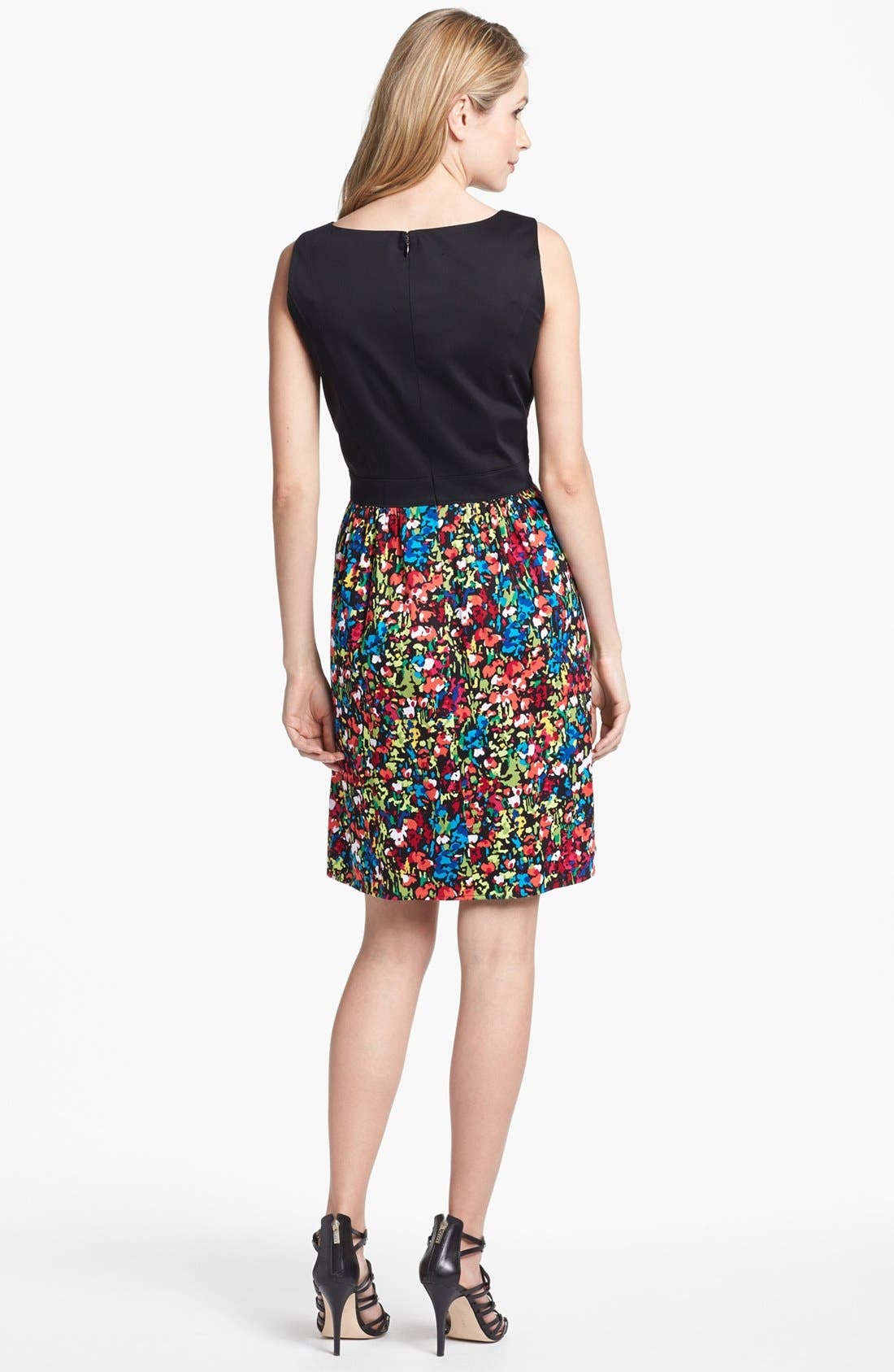Alternate Image 2  - Ellen Tracy Floral Print Fit & Flare Dress
