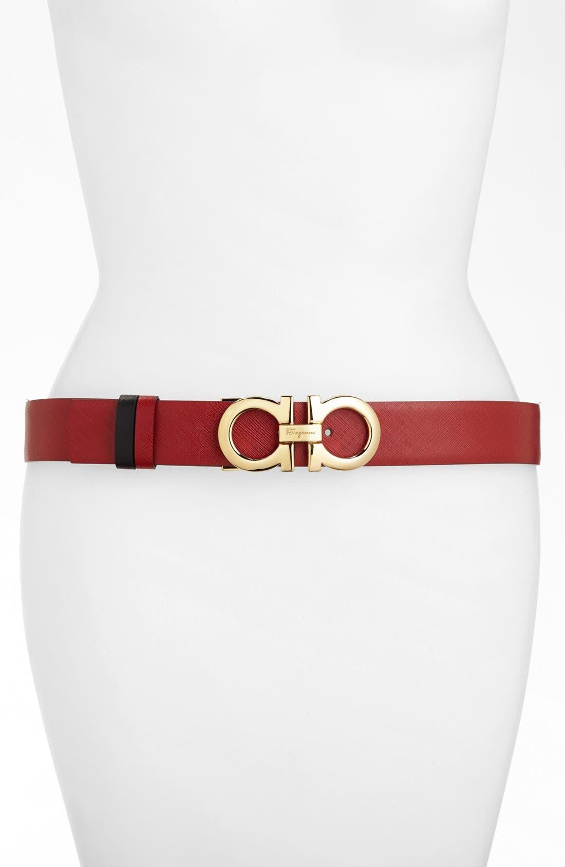 Alternate Image 2  - Salvatore Ferragamo Reversible Saffiano Leather Belt