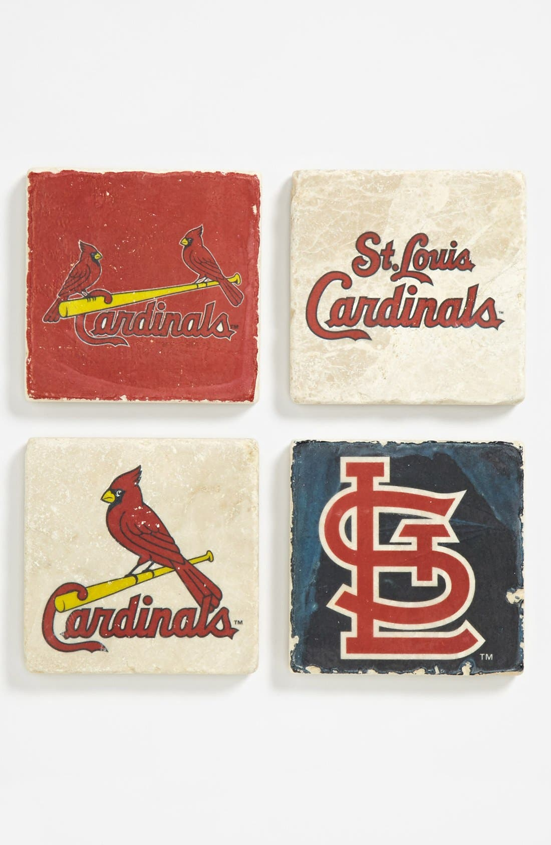 Main Image - 'St. Louis Cardinals' Marble Coasters (Set of 4)