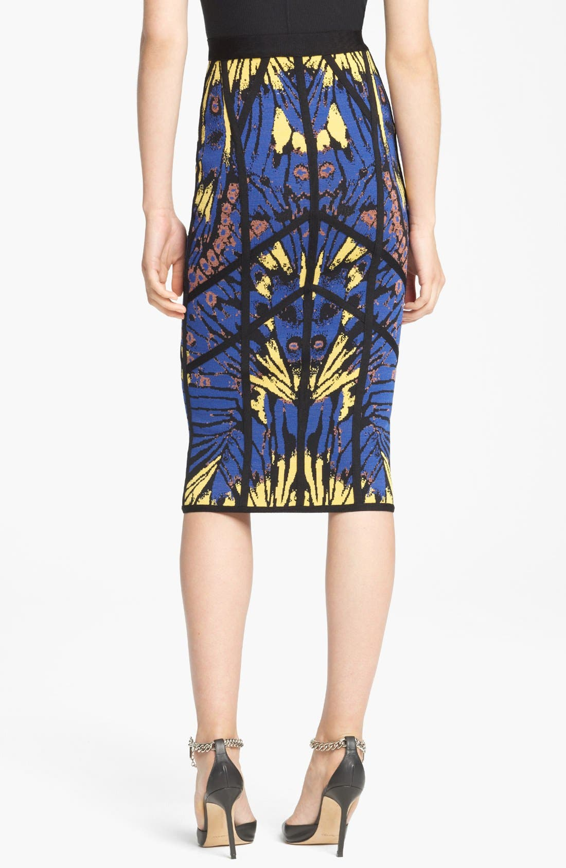 Alternate Image 2  - Herve Leger Butterfly Print Skirt
