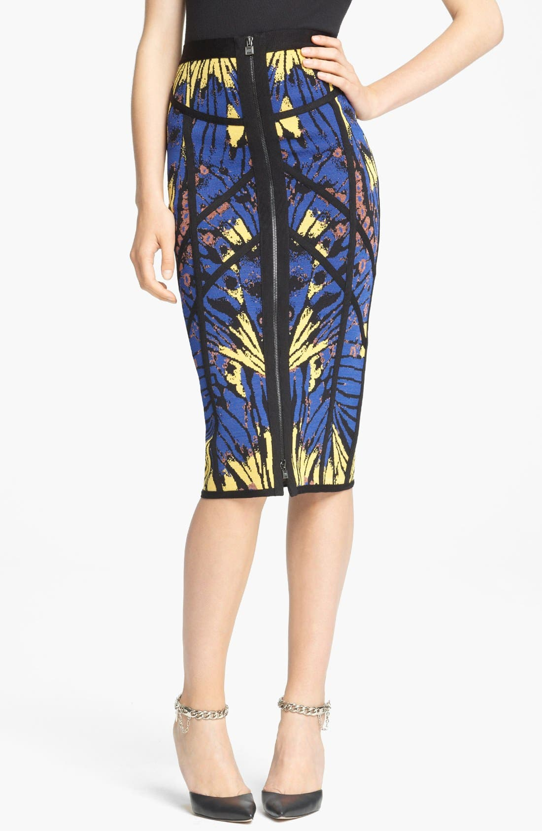 Alternate Image 1 Selected - Herve Leger Butterfly Print Skirt