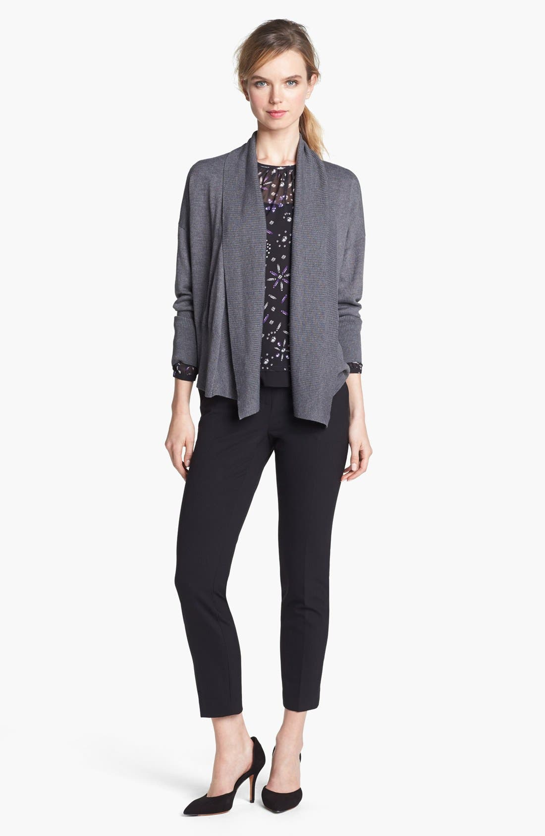 Main Image - Vince Camuto Shawl Collar Open Cardigan (Online Only)