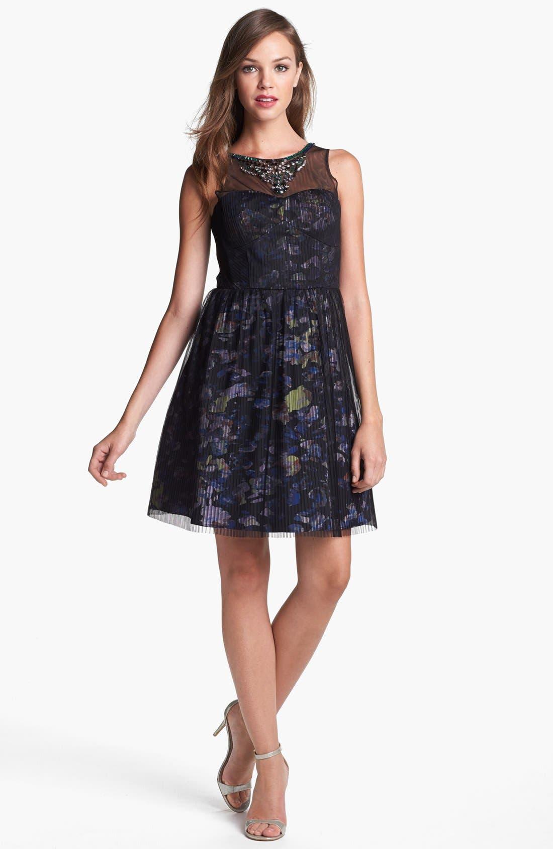 Main Image - BCBGMAXAZRIA 'Illusion' Dress
