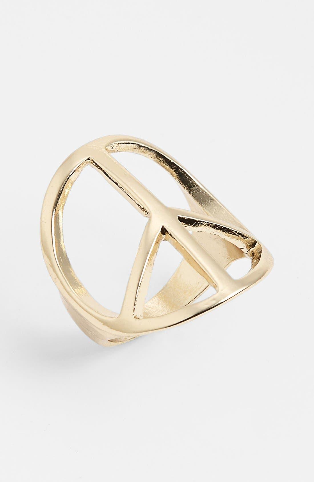 Alternate Image 1 Selected - BP. 'Peace' Ring (Juniors)