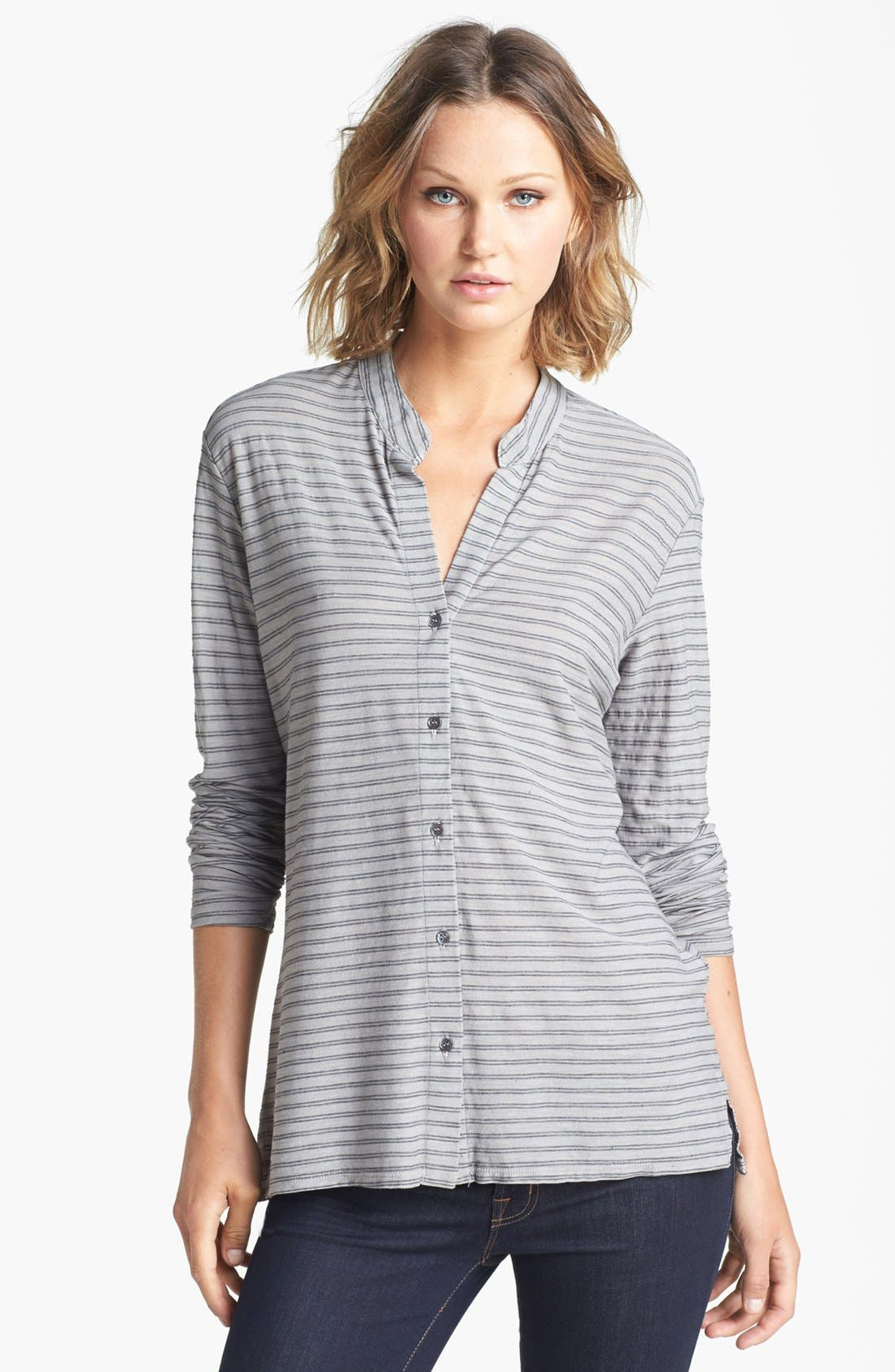 Alternate Image 1 Selected - James Perse Stripe Slub Jersey Button Up