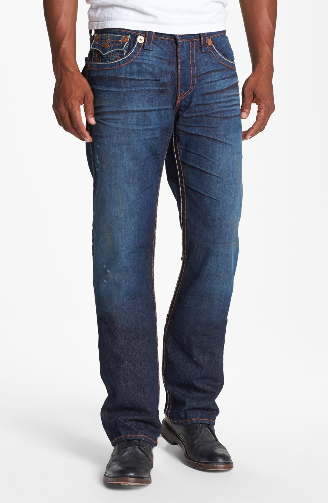 Alternate Image 2  - True Religion Brand Jeans 'Ricky' Straight Leg Jeans (Hideout)