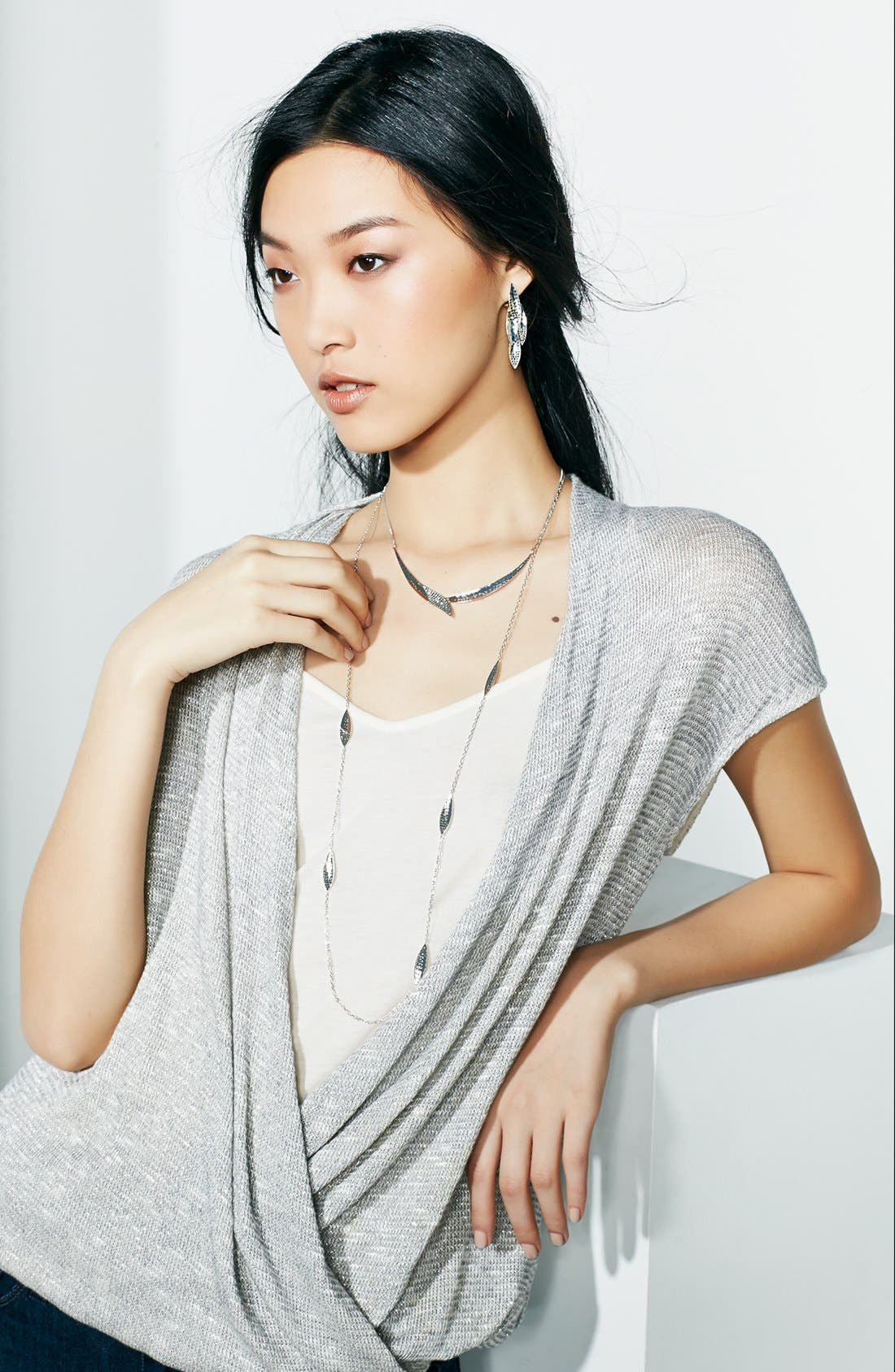 Alternate Image 2  - Judith Jack 'Silver Rain' Extra Long Station Necklace (Nordstrom Exclusive)