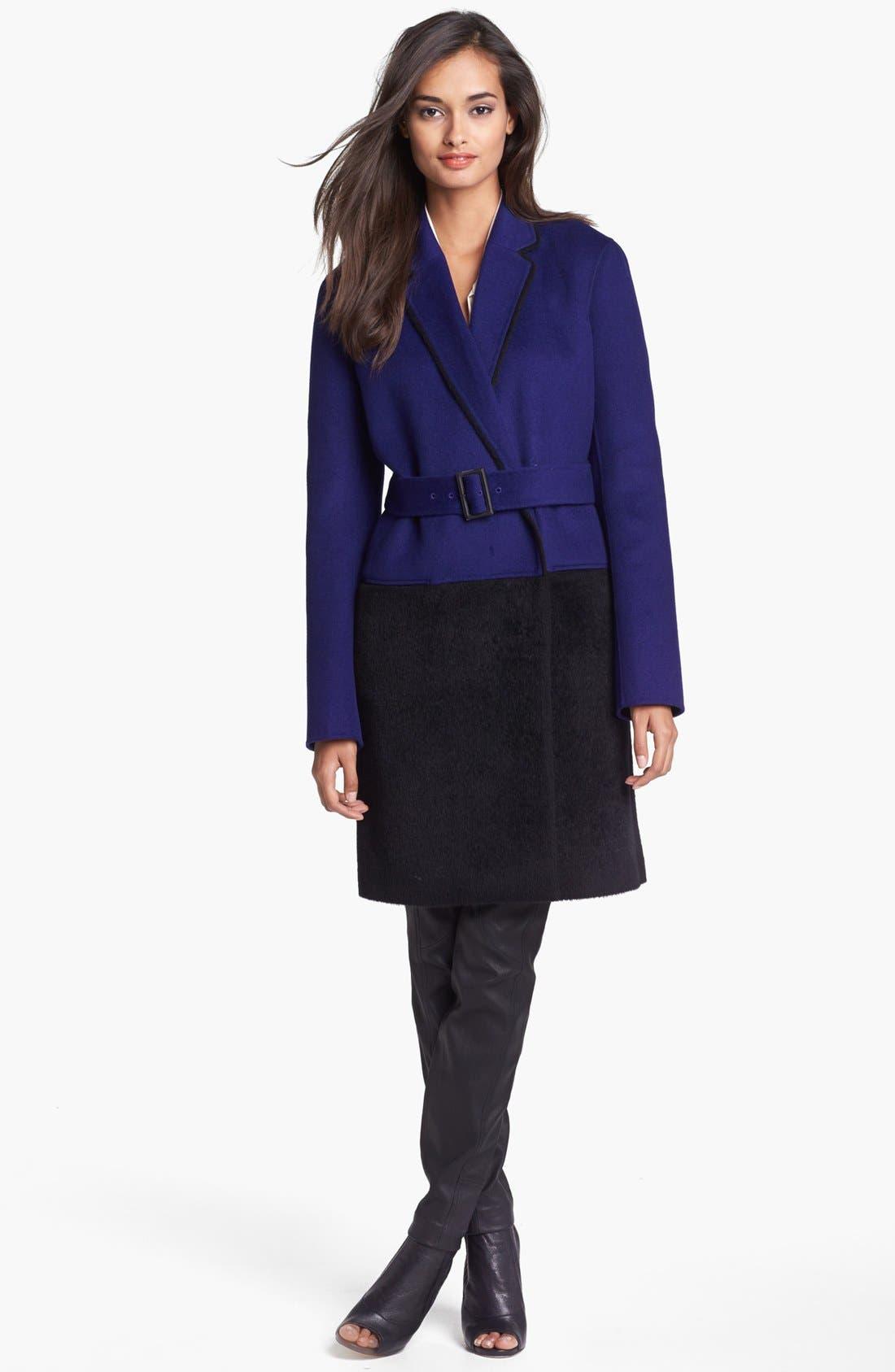 Alternate Image 3  - Diane von Furstenberg 'Logan' Colorblock Overcoat