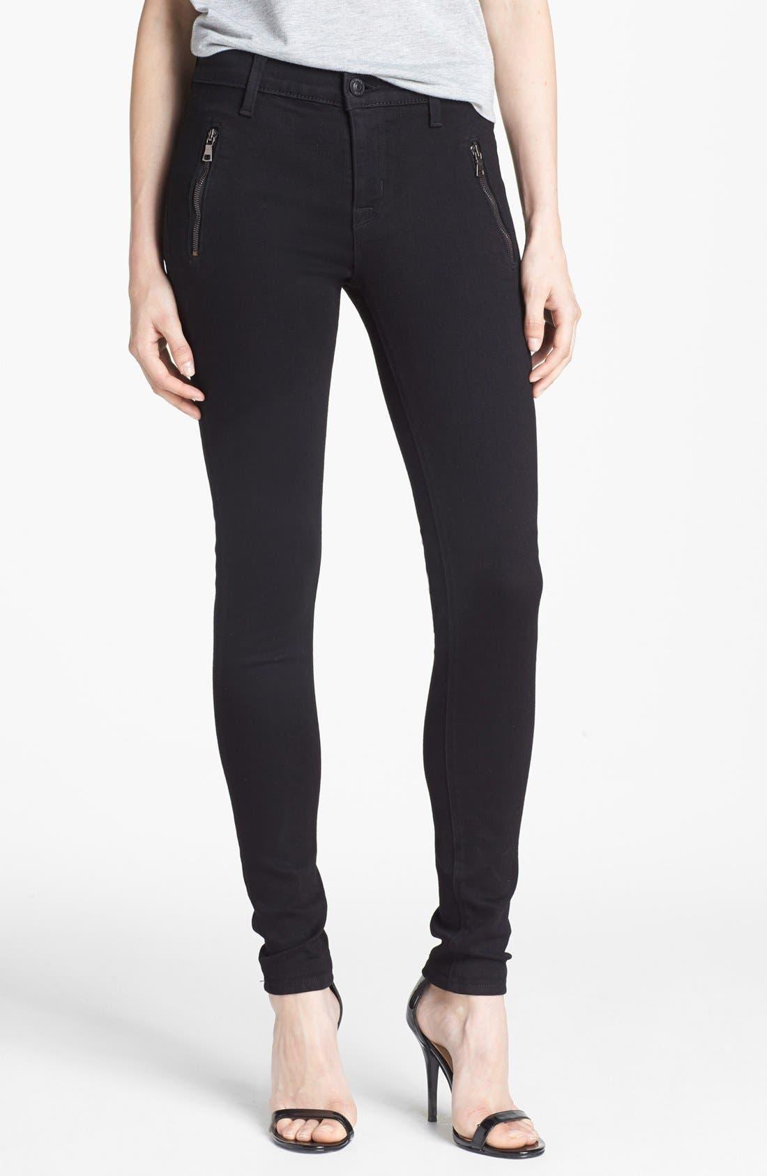 Main Image - Hudson Jeans 'Biker' Skinny Jeans (Black)