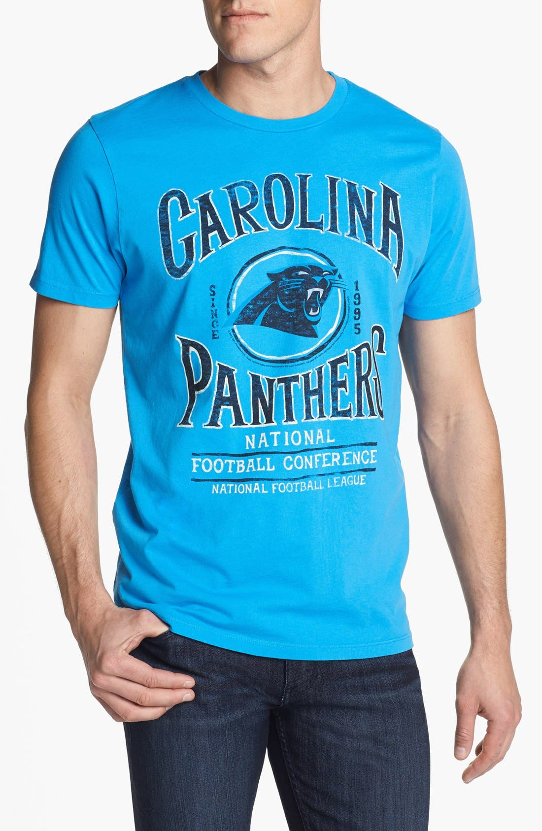 Alternate Image 1 Selected - Junk Food 'Carolina Panthers - Kick Off' Graphic T-Shirt