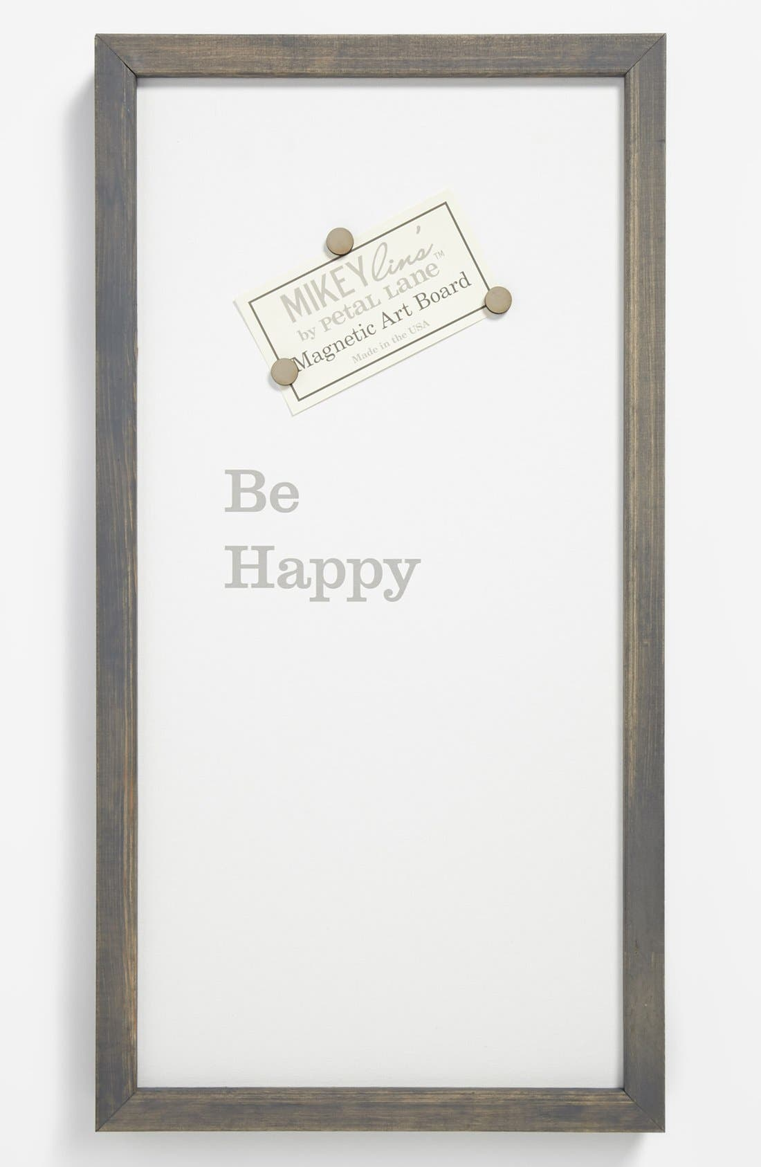 Alternate Image 1 Selected - 'Be Happy' Framed Magnet Art Board