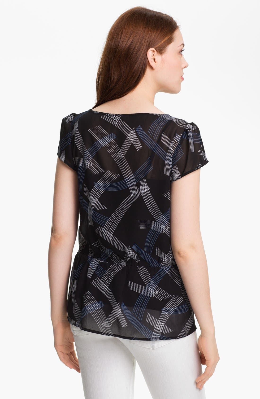 Alternate Image 2  - Halogen® Flutter Sleeve Peplum Blouse