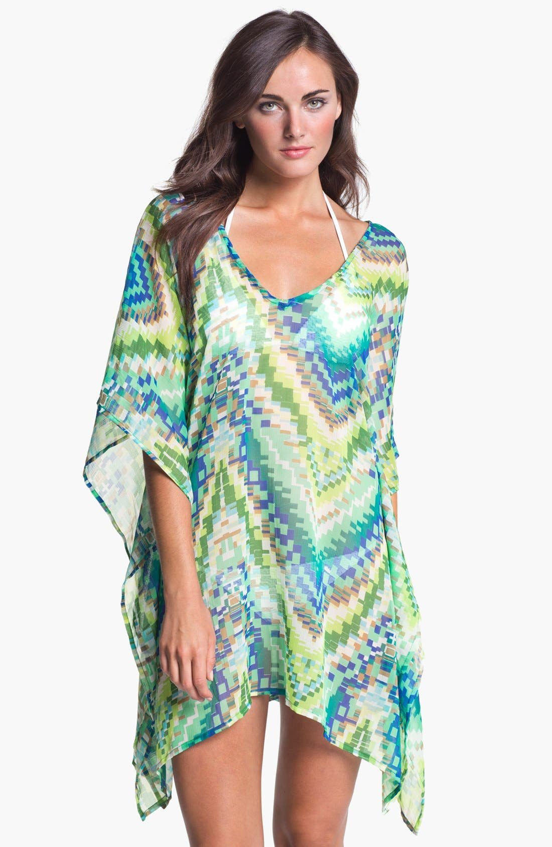 Alternate Image 1 Selected - Echo Sheer Chevron Cover-Up