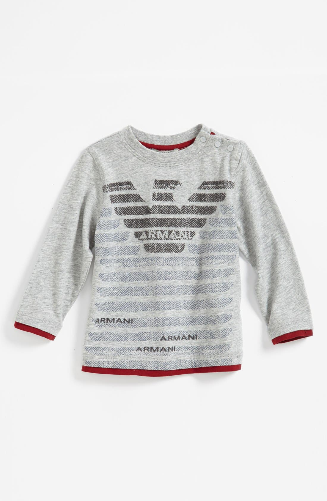 Alternate Image 1 Selected - Armani Junior Logo T-Shirt (Baby Boys)