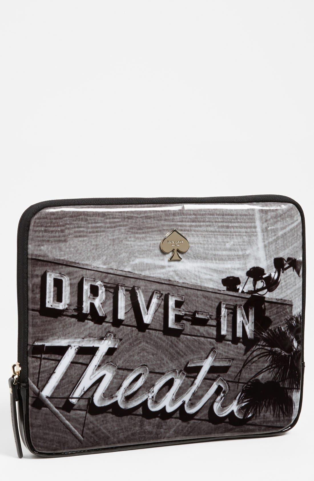 Alternate Image 1 Selected - kate spade new york 'drive-in movie' iPad sleeve