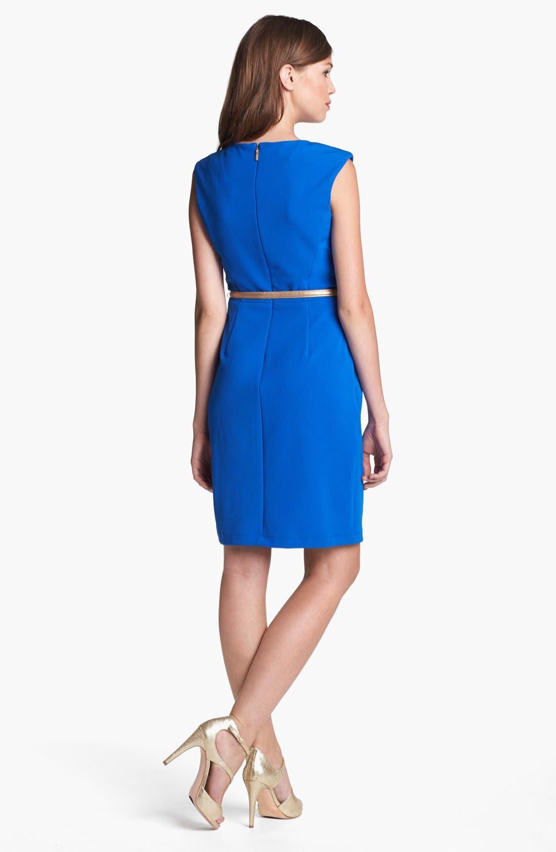 Alternate Image 2  - Donna Ricco Belted Sheath Dress