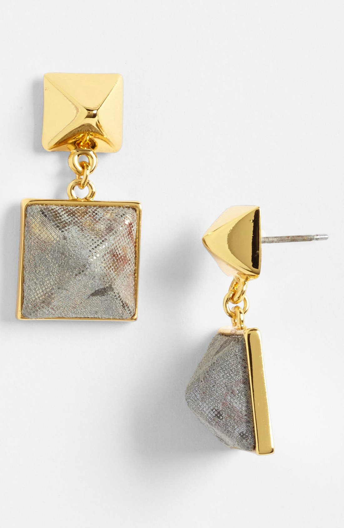 Main Image - Vince Camuto 'Blow Up Pyramid' Leather Stud Drop Earrings