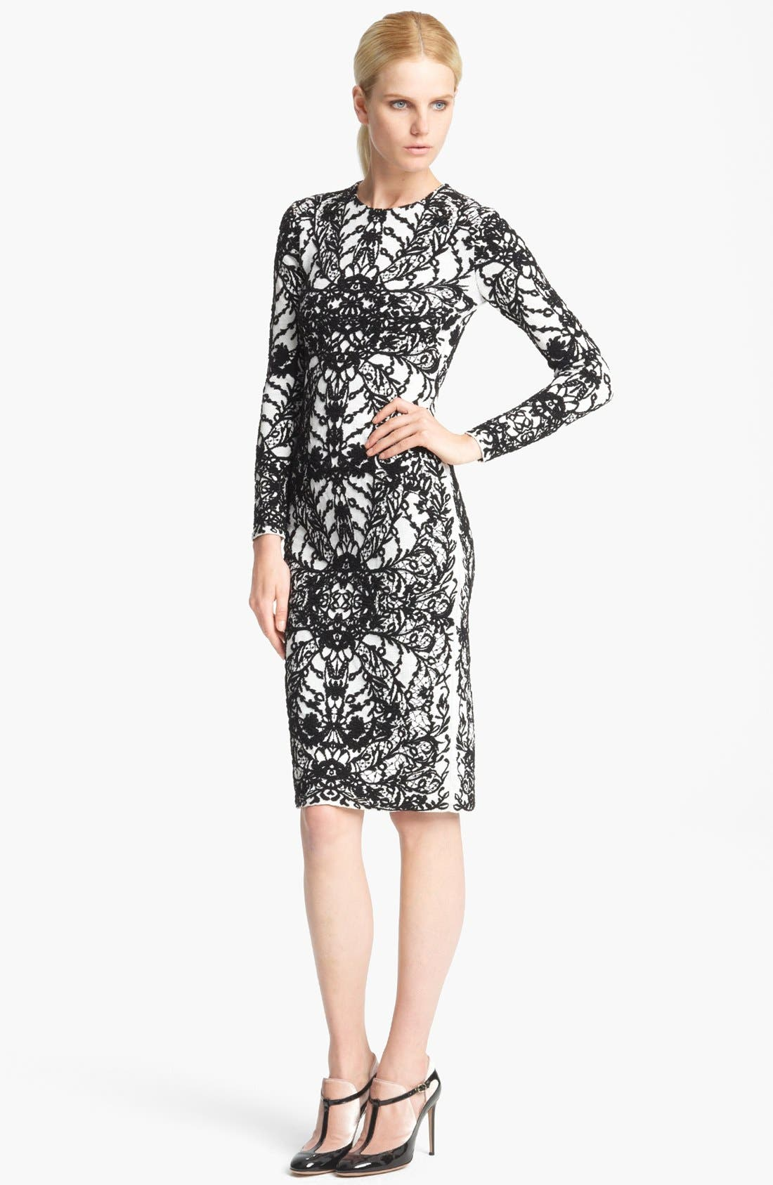 Alternate Image 1 Selected - Valentino Embroidered Sheath Dress