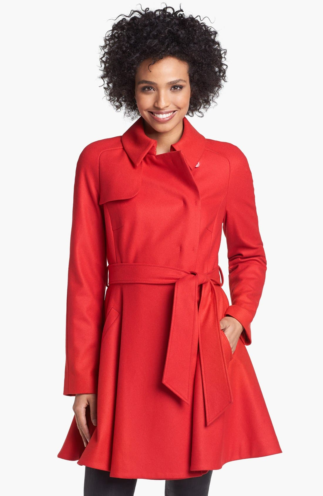 Main Image - Ted Baker London Wool Blend Wrap Trench Coat