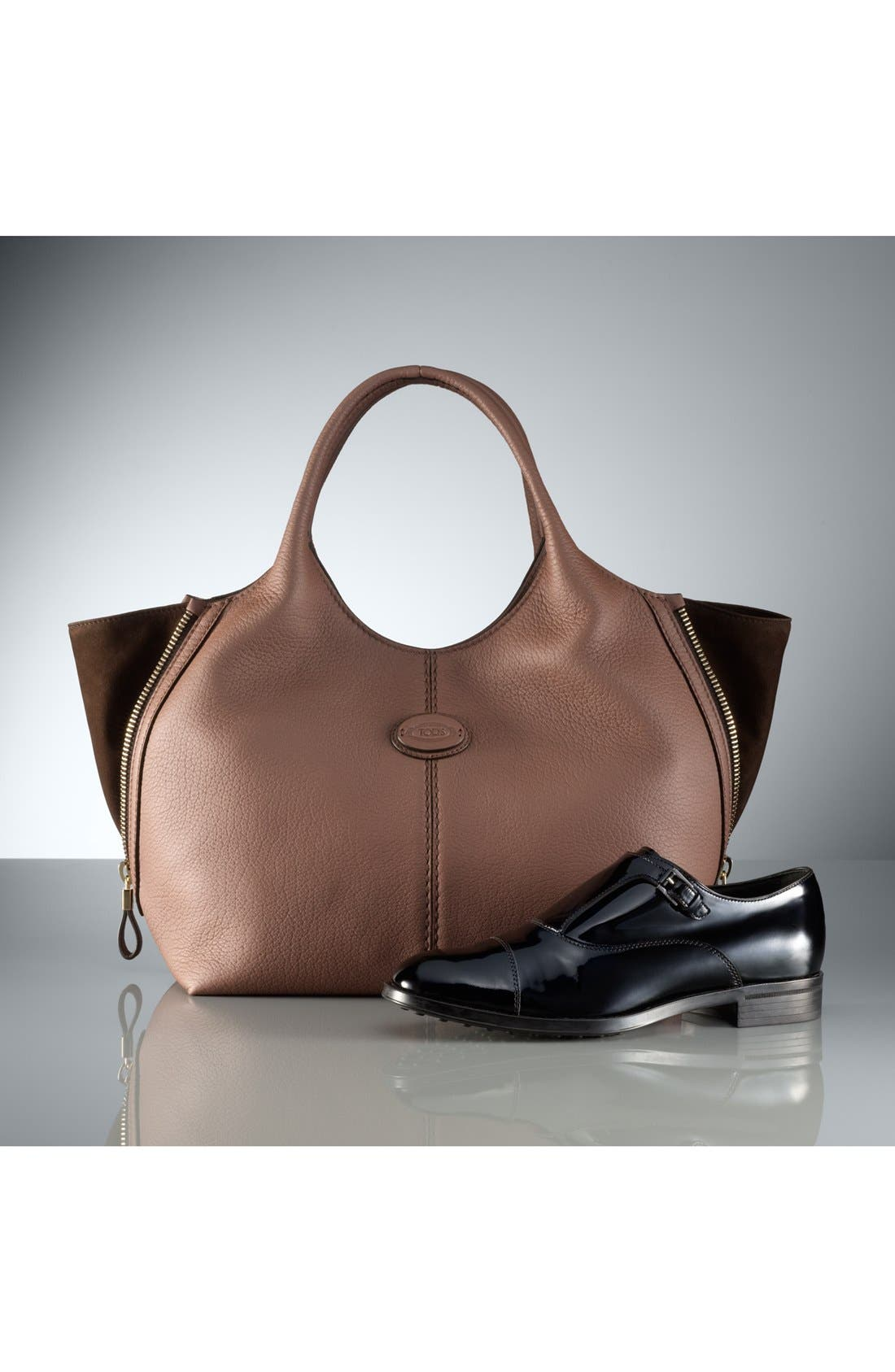 Alternate Image 5  - Tod's 'ALH Side Zip - Small' Leather Shopper