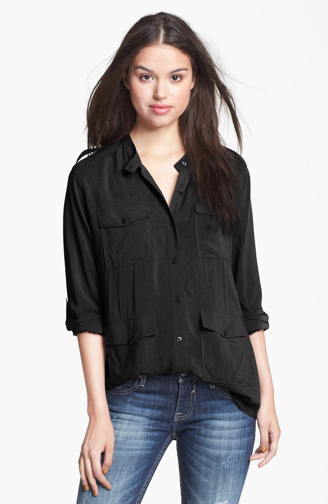 Main Image - Rubbish® Four Pocket Shirt (Juniors)